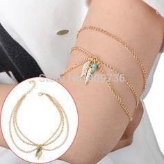 Bohemian Turquoise Beads Love Arrow Arm Bracelet