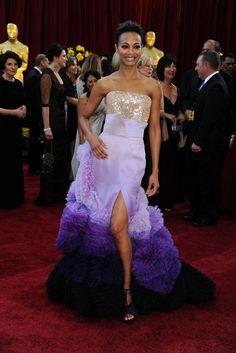 Zoe Saldana Oscars 2010 Givenchy HC 2010