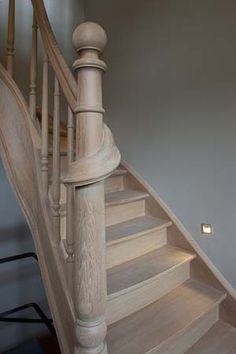 Wooden staircase #belgian #staircase