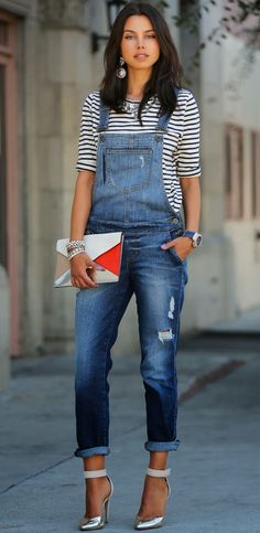 all about these Guess classic denim overalls