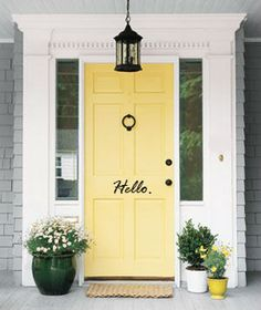 Hello Front Door Decal by PolkaDotDesigned on Etsy, $10.00 @Jamie Wise Wise Wise Wise Wise Olger