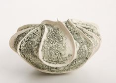 Textured Biomorphic Form Jayne Jermyn ceramics