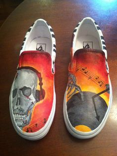 f629db1eef Custom Hand Painted Vans Shoes by SparkleAndSpunk on