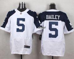 NFL Dallas Cowboys #5 Bailey white Thanksgiving Jersey