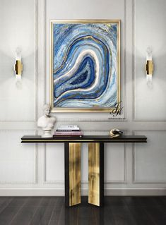 Resin Painting Mineral Painting with decorative stones Resin Art Original Painting Gold Painting On Canvas Fluid Painting by Julia Kotenko by JuliaKotenkoArt on Etsy Abstract Canvas Art, Canvas Wall Art, Gold Leaf Art, Extra Large Wall Art, Art Mural, Texture Art, Resin Art, Etsy, Original Paintings