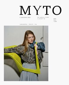 For Meiré und Meiré: Myto by Konstantin Grcic and BASF for Plank Cantilever Chair, Logo Design, Graphic Design, Magazine Editorial, Plank, Cover Design, Cover Up, Layout, Graphics