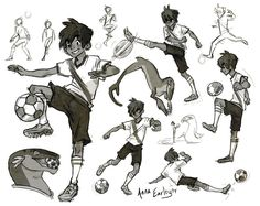 "Watching FIFA, thinking about soccer! Olé! Olé! And then I'd been drawing Mier for comic pages, and then I did that modern version of the characters and I was thinking ""You kn..."