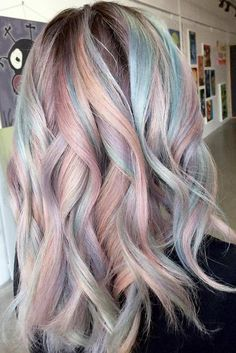 50 Sweeet Cotton Candy Hair Ideas That Are As Aye-pleasing As Can Be - Highpe Pastel Blonde, Ombre Blond, Dyed Hair Pastel, Pastel Grey, Cabello Opal, Cotton Candy Hair, Unicorn Hair, Hair Color Balayage, Pastel Hair