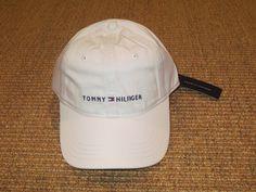 NEW  TOMMY HILFIGER  WHITE  LOGO  BASEBALL CAP  HAT SPORT CLASSIC…