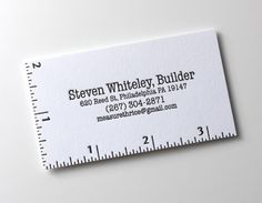 Love the use of a ruler to help tie into the career - measure twice, cut once.