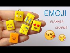 [Stop Motion] Emoji planners Tutorial / Tutoriel Fimo Agenda Emojis - YouTube Polymer clay - Pate polymere