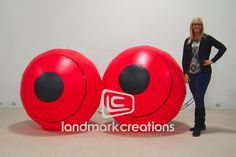 Desi Santiago - Inflatable Eyeballs Sculpture for Miami Basel 2012