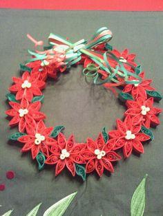 Risultati immagini per quilling jul Paper Flowers Craft, Flower Crafts, Paper Crafts, Quilling Christmas, Christmas Wreaths, Christmas Crafts, Quilling Videos, Quilling Techniques, Paper Quilling Patterns