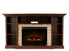 """Merrick 65"""" TV Console w/ 25"""" Electric Fireplace 