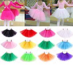 Awesome Baby Kid Girl Cute Fluffy Tulle Pettiskirt Tutu Skirt Ballet Dance Costume - $3 - Buy it Now!