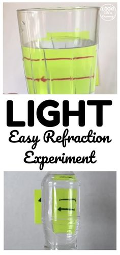 Try this simple light refraction experiment to help kids see how light can bend before their eyes! Perfect for an easy science experiment! Easy Science Experiments, Science Lessons, Stem Steam, Lesson Plans, Homeschool, Help Kids, How To Plan, Preschool Ideas, Watch