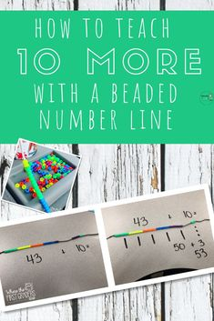 Adding ten more can be a hard concept for students to grasp. In the past, I've always taught strategies on the chart because it seems simple, go up for ten less, down for ten more. I would get so frustrated when students didn't get it. Now, I teach Teaching Place Values, Teaching Numbers, Numbers Kindergarten, Teaching First Grade, First Grade Math, Teaching Math, Second Grade, Teaching Ideas, Fun Math Games
