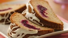 Enjoy this delicious coffee cake filled with cranberries and topped with orange glaze!