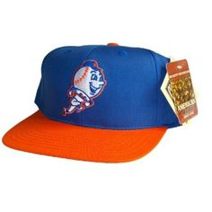 506a8bc17 NEW YORK METS Retro Old School Snapback Hat - MLB Cap with TAGS - 2 Tone  Blue Orange