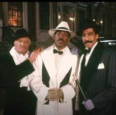 "Redd Foxx, Eddie Murphy & Richard Pryor in ""Harlem Nights"" - Three great funny men and it was really cool to see them work together for the first time. Harlem Nights Party, Redd Foxx, Photo Star, Vintage Black Glamour, 1920s Glamour, Vintage Soul, Eddie Murphy, Black Actors, Actrices Hollywood"