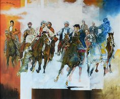 Artist: Shan Amrohvi Artwork Code: AC-SA-003 Medium: Oil on canvas Size: 30 x 36 inch