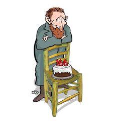 Arte Van Gogh, Van Gogh Paintings, Creative Illustration, Aesthetic Art, Vincent Van Gogh, Art Pages, Caricature, Museum, Cartoon
