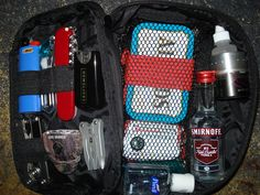 Survial Kit  (ok i see that there is alcahol in it, and im lds, i know that it can be used to unfreeze windsheilds and its not just for drinking, and in my case it wouldnt be for drinking)