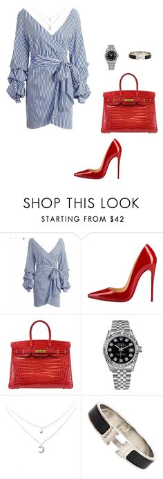 """Untitled #492"" by nadiralorencia on Polyvore featuring Christian Louboutin, Hermès and Rolex"