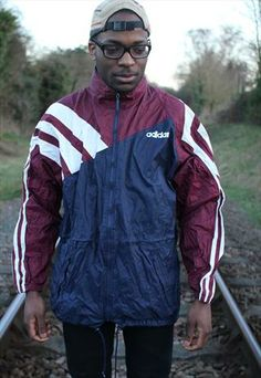 Vintage Adidas Wind Breaker Jacket Athletic Clothes, Athletic Outfits, Slow Fashion, 90s Fashion, Vintage Sport, Wind Breaker, Vintage Adidas, Hoodies, Sweatshirts