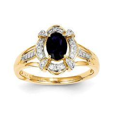 14k Diamond & Sapphire Ring Y11309S/AA