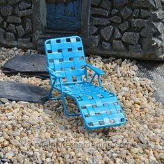Web Lounger for the miniature garden.  #miniaturegardening  #fairy