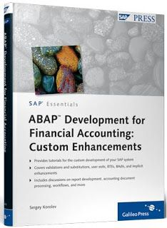 ABAP programming for SAP Financial Accounting - Customer-specific enhancements (SAP PRESS)http://sapcrmerp.blogspot.com/2013/04/abap-programming-for-sap-financial.html