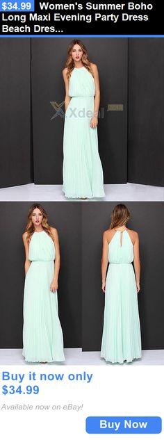 Sexy Women Dresses: Womens Summer Boho Long Maxi Evening Party Dress Beach Dresses Sundress BUY IT NOW ONLY: $34.99
