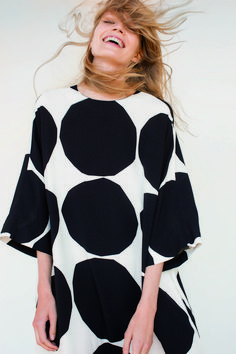Marimekko Design House black & white dress