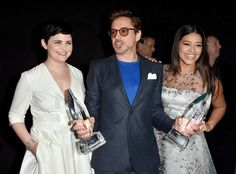 Ginnifer Goodwin, Robert Downey Jr. and Gina Rodriguez
