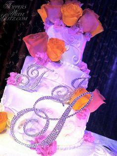 Crystal letter cake