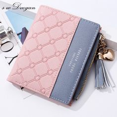 Tassels Zipper&Hasp Women Wallet For Coin Card Cash Invoice Fashion Lady Wallets Small Purse Short Solid Female Clutch Carteras