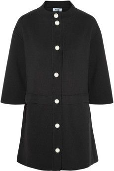 Moschino Cheap and Chic Wool and cotton-blend coat | NET-A-PORTER ; A very cute pearl coat.