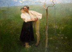 """Wacław Szymanowski""""Umizgi huculskie / Sielanka"""" (1892)"""