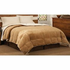 Mink Reversing to Cloud Fleece King Comforter in Camel by PEM America. $129.06. Made in China.. Soft coral Fleece face material reverses to a super soft sherpa fleece all in 100% hypoallergenic po. Spot clean.. King comforter is 104x90 inches and is 100% hypoallergenic polyester.. CF6126CAKG-1600 Features: -Comforter.-Made of 100pct hypoallergenic polyester.-Soft and cozy mink fleece face with an even soft cloud fleece reverse.-Spot clean. Color/Finish: -Color: C...
