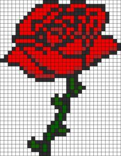 Rose perler bead pattern