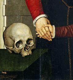Adriaen Cronenburch. Detail from Lady and Daughter, 1567.