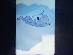 A sad unicorn  #followme #draw