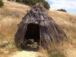 Recreated tule hut of Native Americans used on the Suisun Marsh at Rush Ranch.