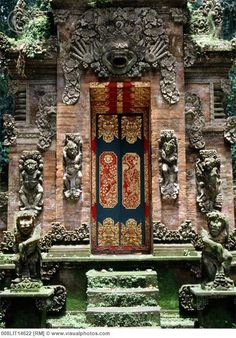 Gate at Monkey Forest Temple in Ubud, Bali, Indonesia One of my favorite places on earth, and not just because a mo key grabbed Michael by the balls and demanded that he hand over all of his bananas. It's a really mystical place, too.