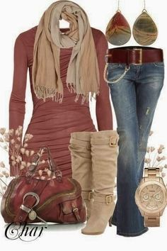 Love this color pallet, but those boots are amazing!