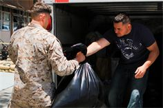 Marines offer relief and support for Oklahoma tornado victims.  (U.S. Marine Corps photo by Cpl. Timothy Lenzo)