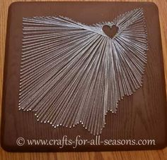 state string art ... http://www.crafts-for-all-seasons.com/state-string-art.html