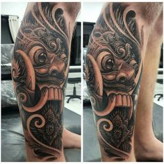 Rangda mask tattoo