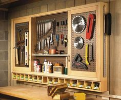 How's this for a workshop wall storage